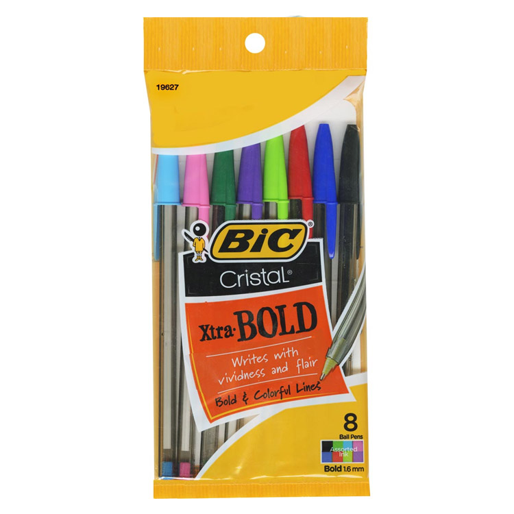 Image For Bic Xtra Bold Cristal Ball Pens 8 Pack