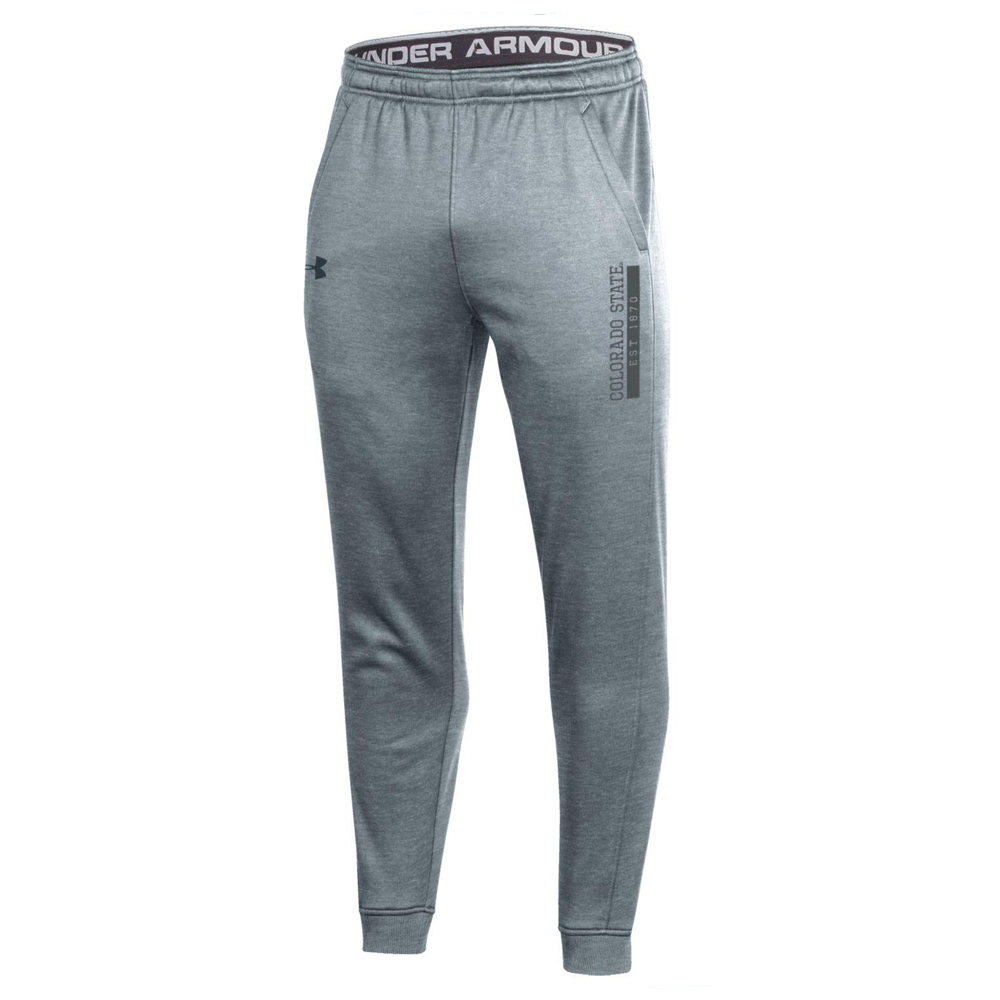 Image For Gray Colorado State Men's Joggers by Under Armour