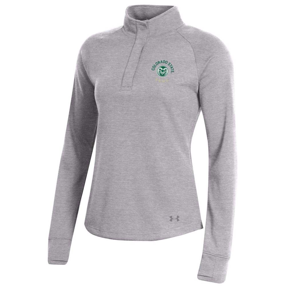 Image For Gray CSU Rams Women's Knit 1/4 Snap by Under Armour