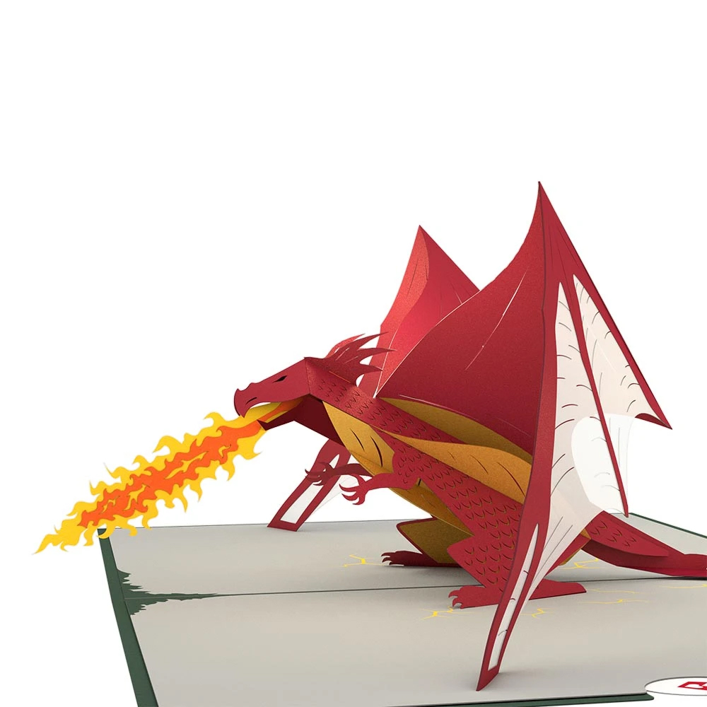 Image For Dragon Decorative 3D Card by Lovepop