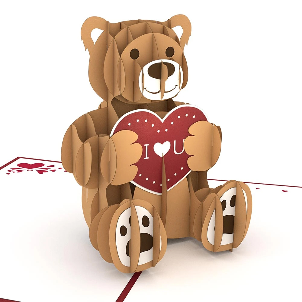 Image For Love Bear Decorative 3D Card by Lovepop