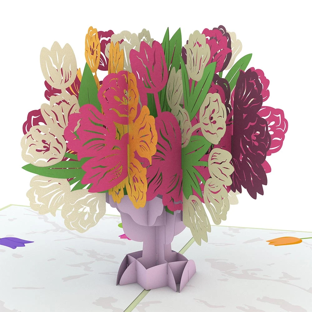 Image For Tulip Bouquet 3D Card by Lovepop