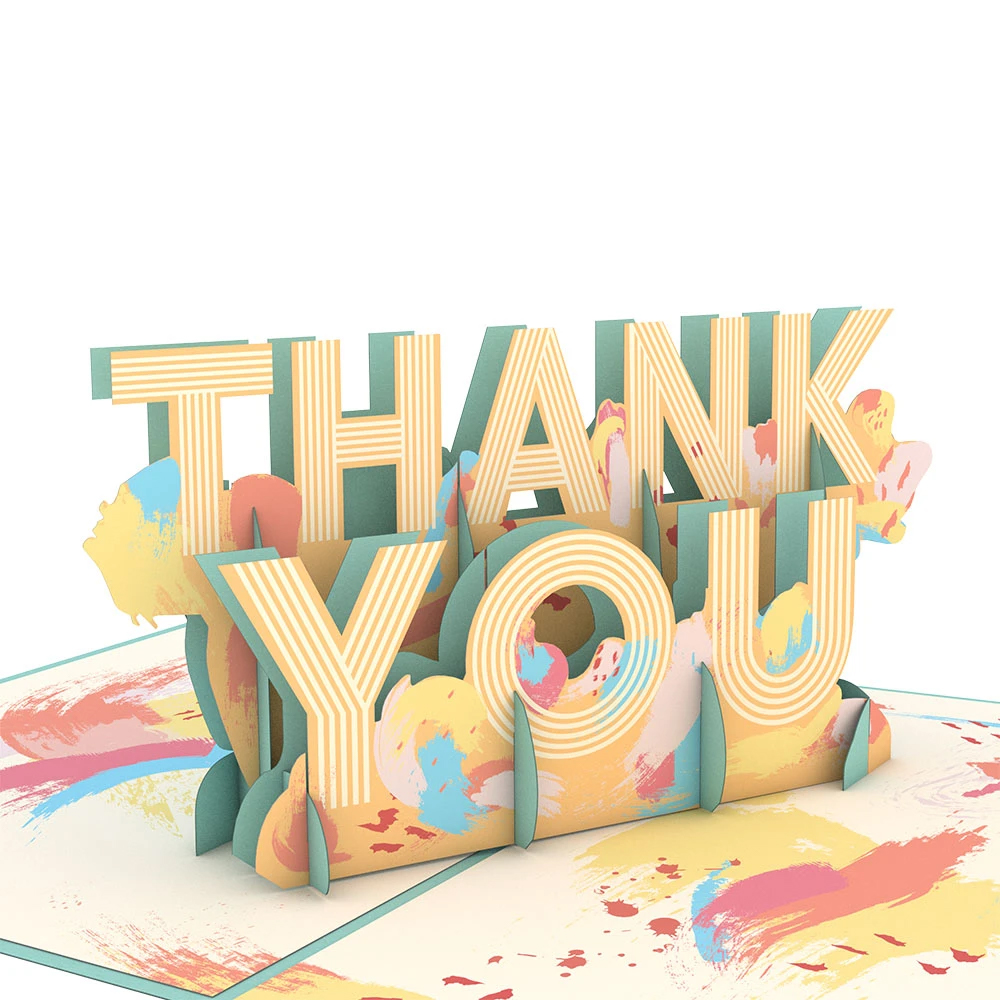 Image For Artistic Thank You 3D Card by Lovepop