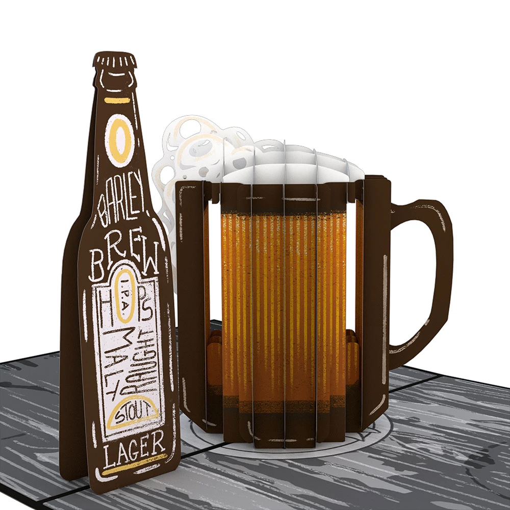 Image For Beer-th Day 3D Card by Lovepop