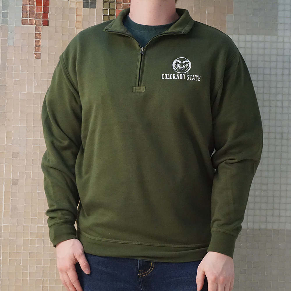 Image For Everglade Colorado State 1/4 Zip Sweatshirt by Ouray
