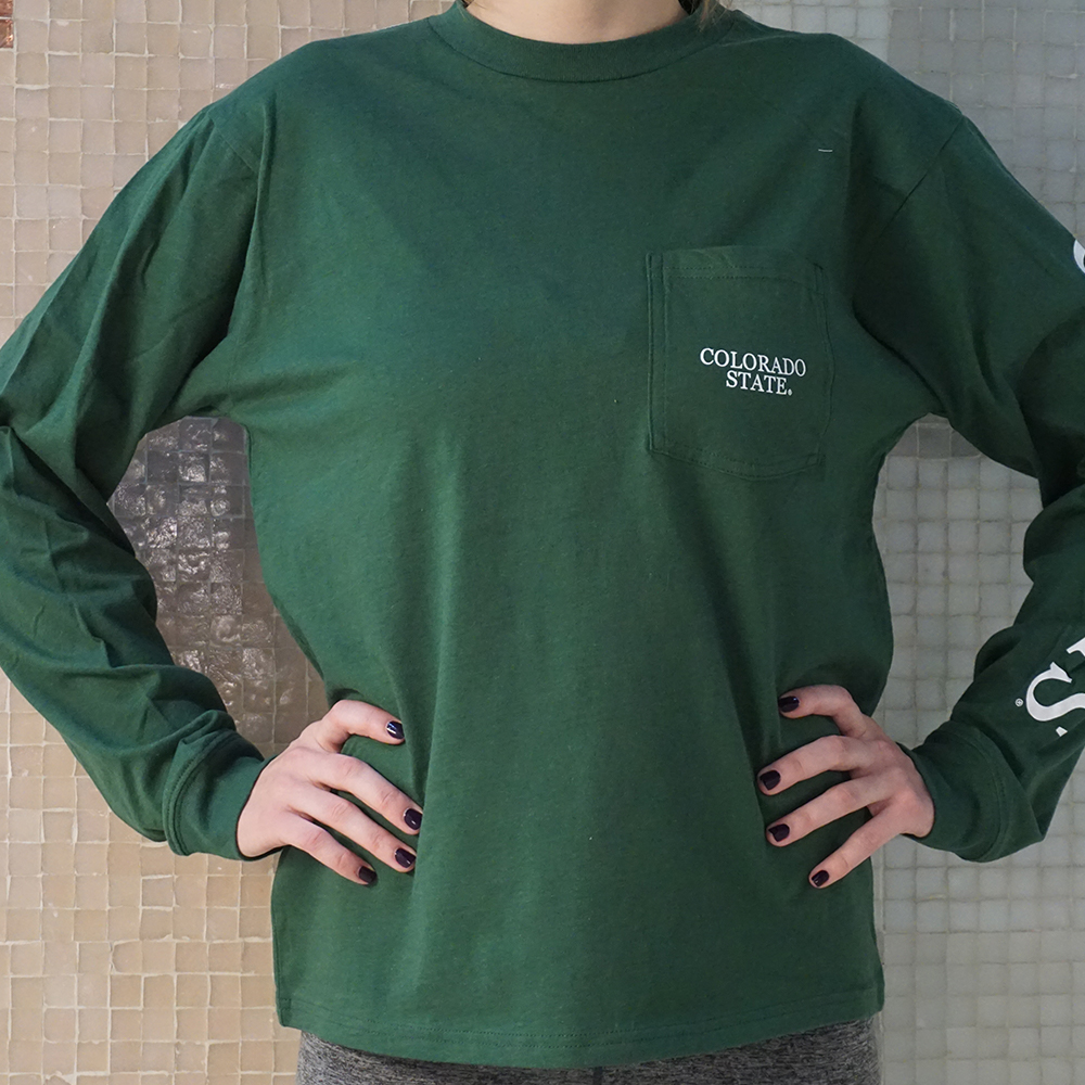 Cover Image For CSU Rams Long Sleeve Pocket Tee by League