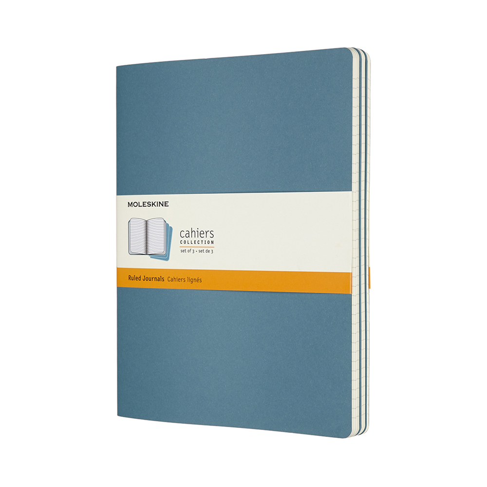 Image For Moleskine Brisk Blue Ruled Journals 3 Pack