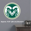 Cover Image for Large Green/White Ram Head Colorado State University Decal