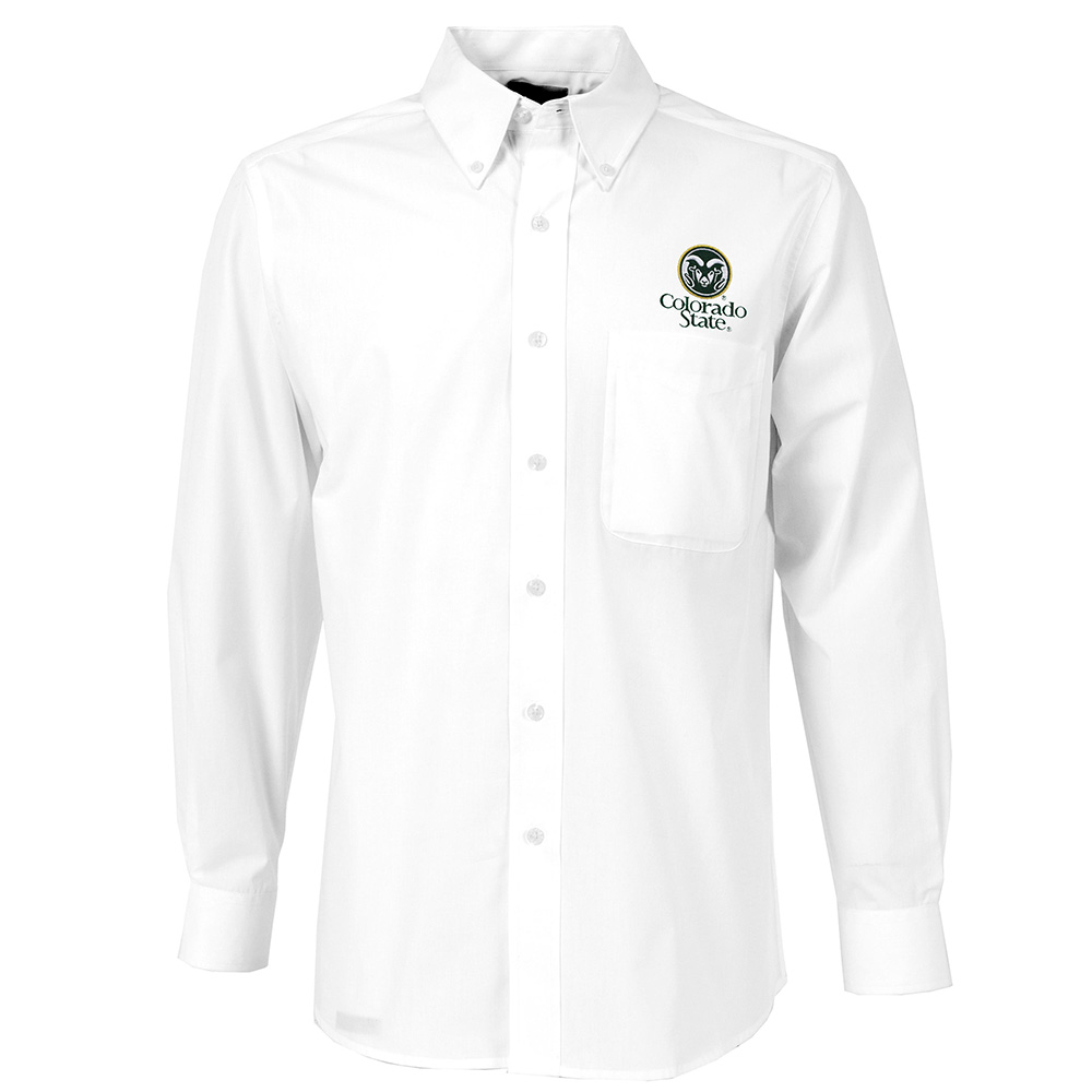 Image For White Dynasty Colorado State Button-Down Shirt by Antigua
