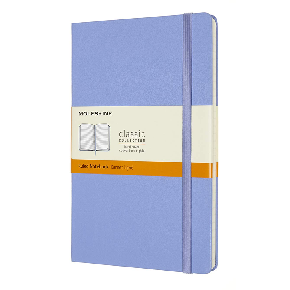 Image For Moleskine Hydrangea Classic Hard Cover Ruled Notebook
