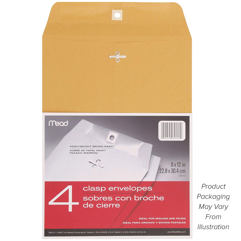 "Image For Mead 9"" x 12"" Clasp Envelopes"