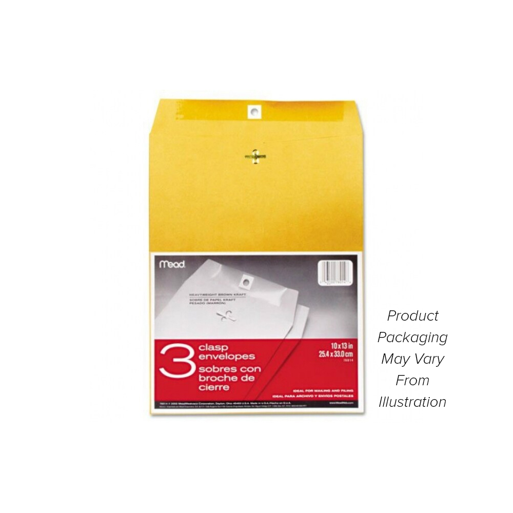 "Image For Mead 10"" x 13"" Clasp Envelopes"