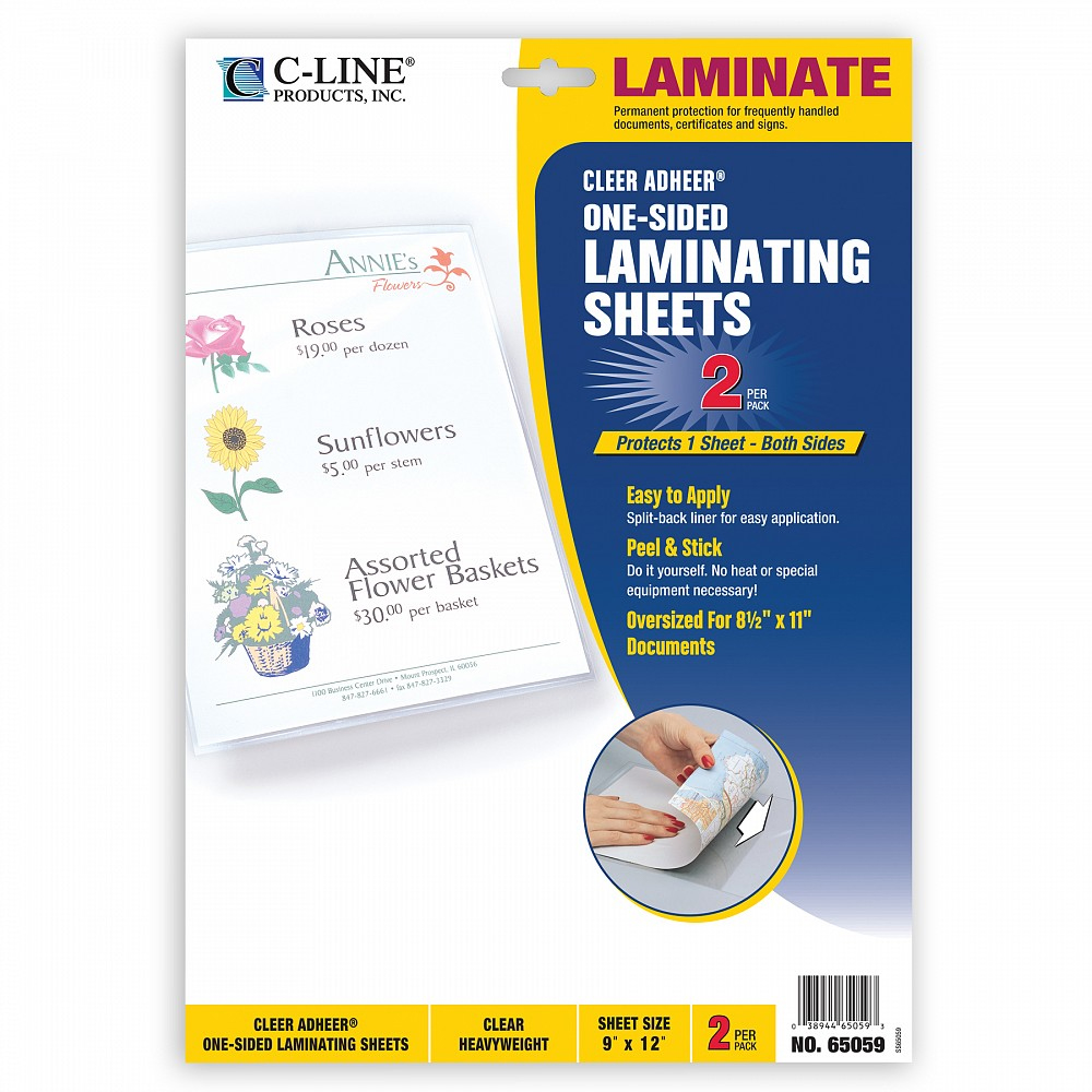 Image For C-Line Cleer Adheer One-Sided Laminating Sheets