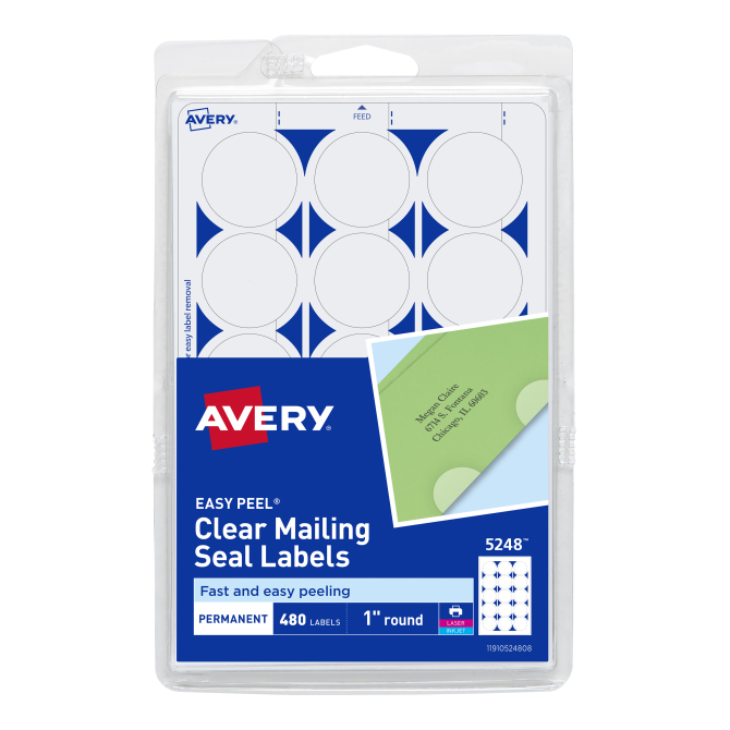 Image For Avery Clear Mailing Seal Labels