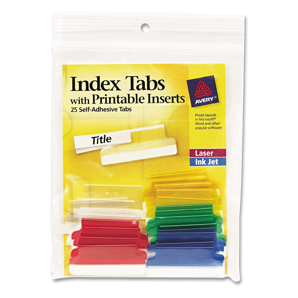 Image For Self Adhesive Index Tabs
