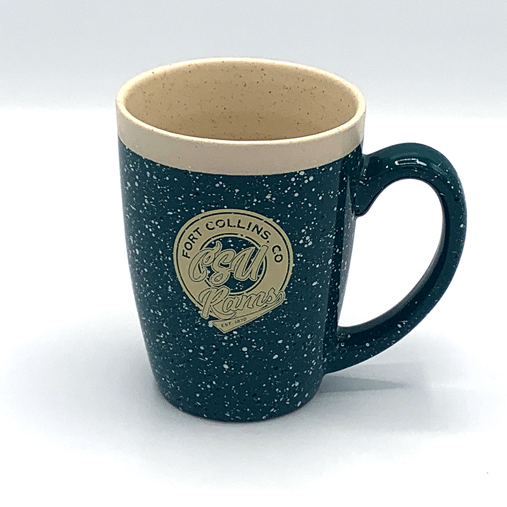 Image For Evergreen Adobe Speckled CSU Rams Mug