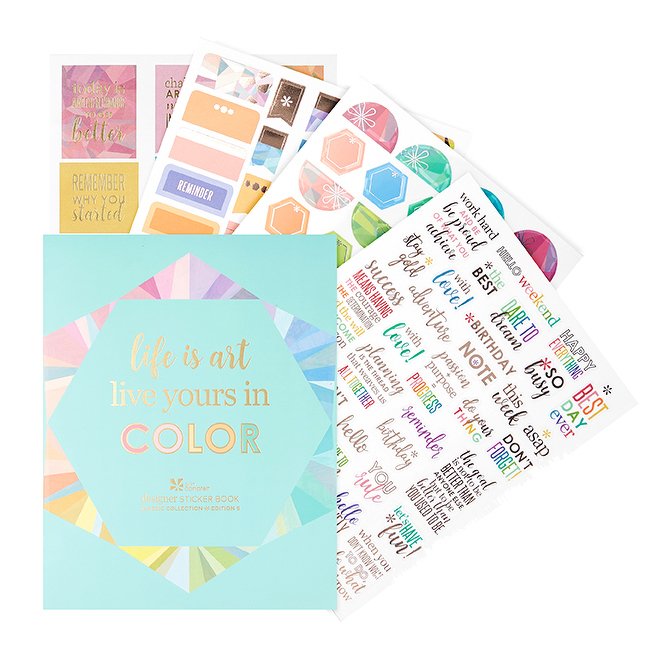 Cover Image For Designer Sticker Book by Erin Condren
