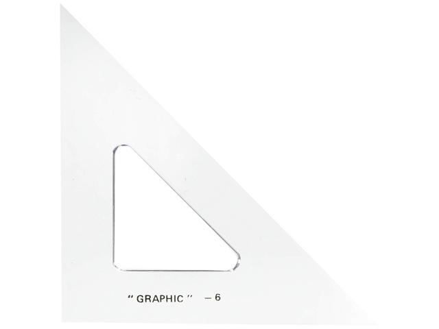 "Image For 6"" Academic Acrylic Triangle by Alvin"