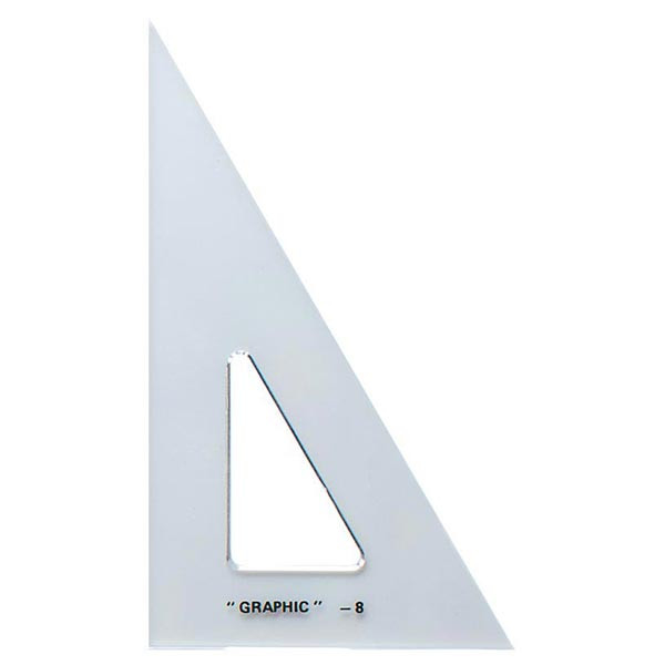 "Image For 8"" Transparent Triangle 45/90"