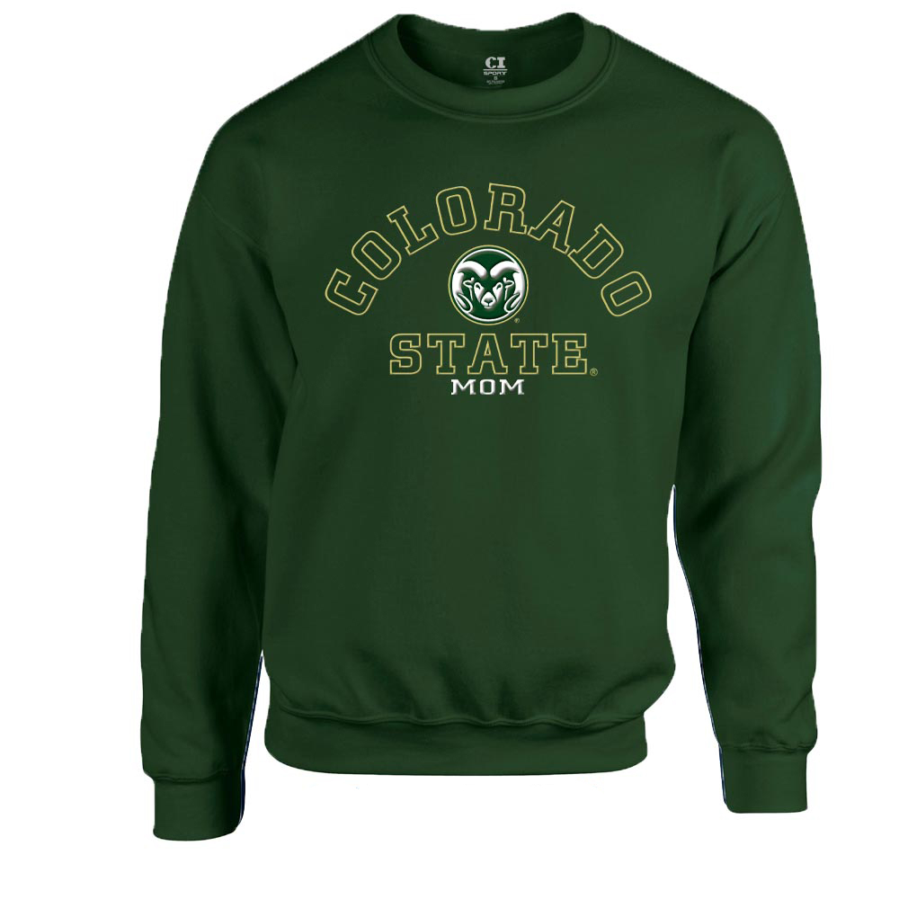 Image For Green CSU Mom Crew Neck Sweatshirt by CI Sports