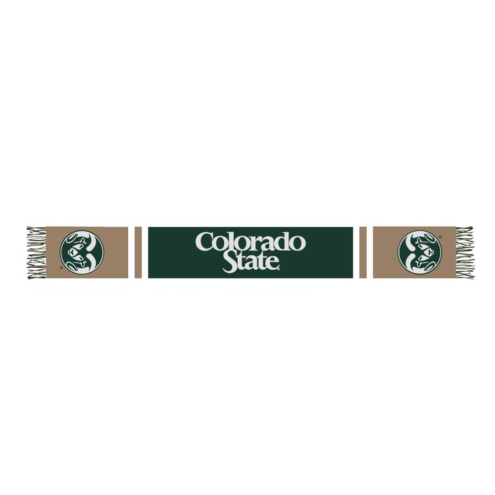 Image For Green and Gold Colorado State University Dog Scarf