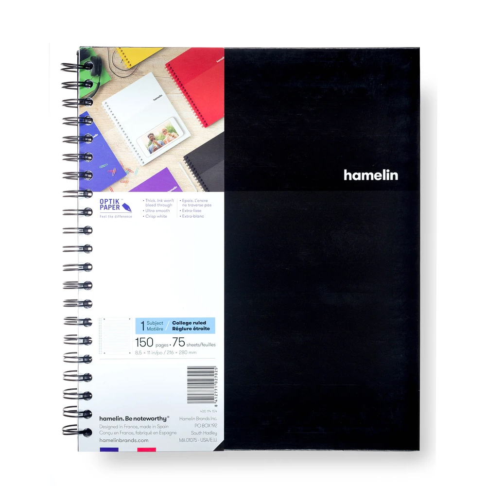 Image For Black Graph Ruled One Subject Notebook by hamelin