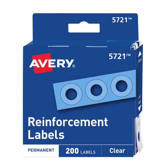 Image For Avery Clear Reinforcement Labels