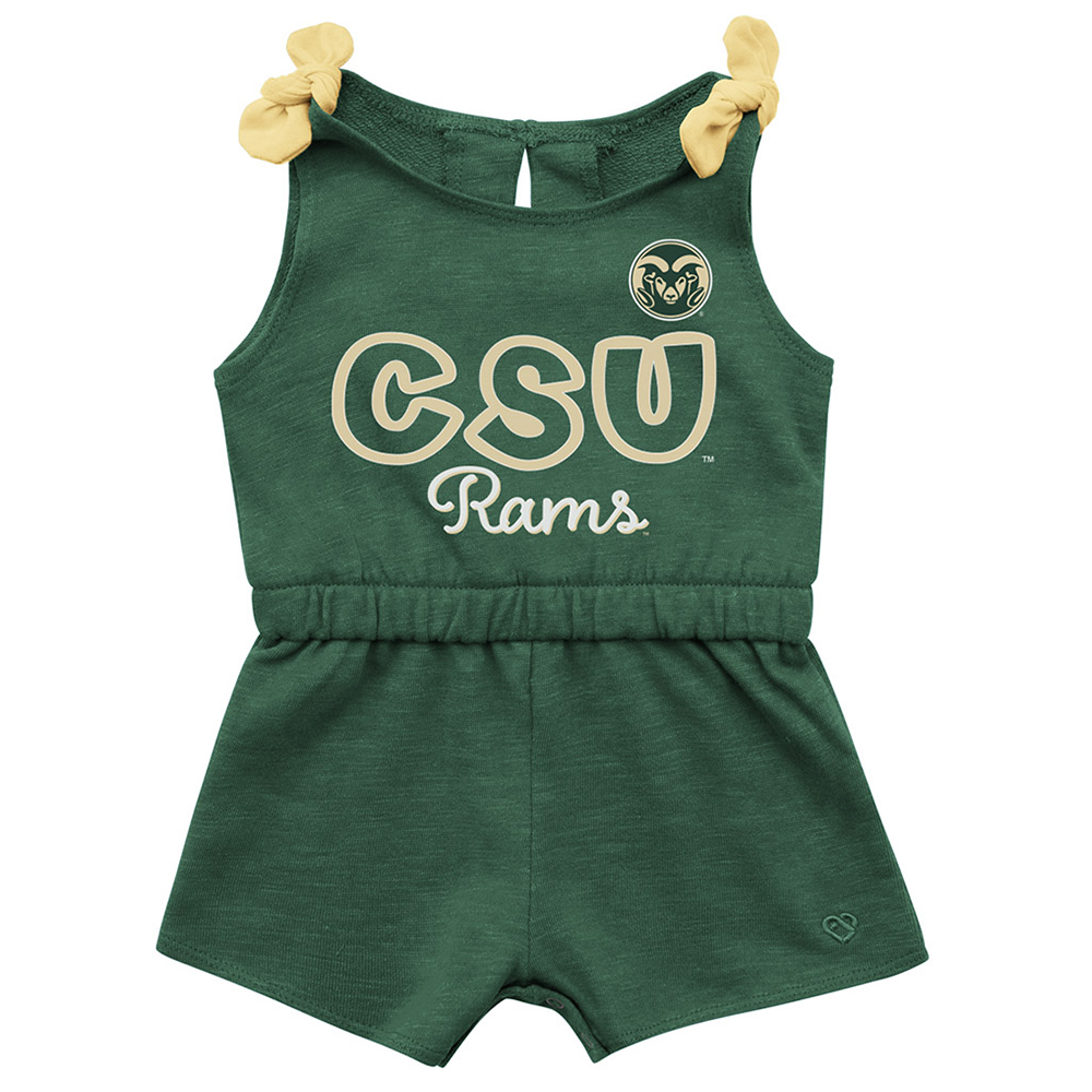 Image For Green Infant CSU Rams Romper by Colosseum
