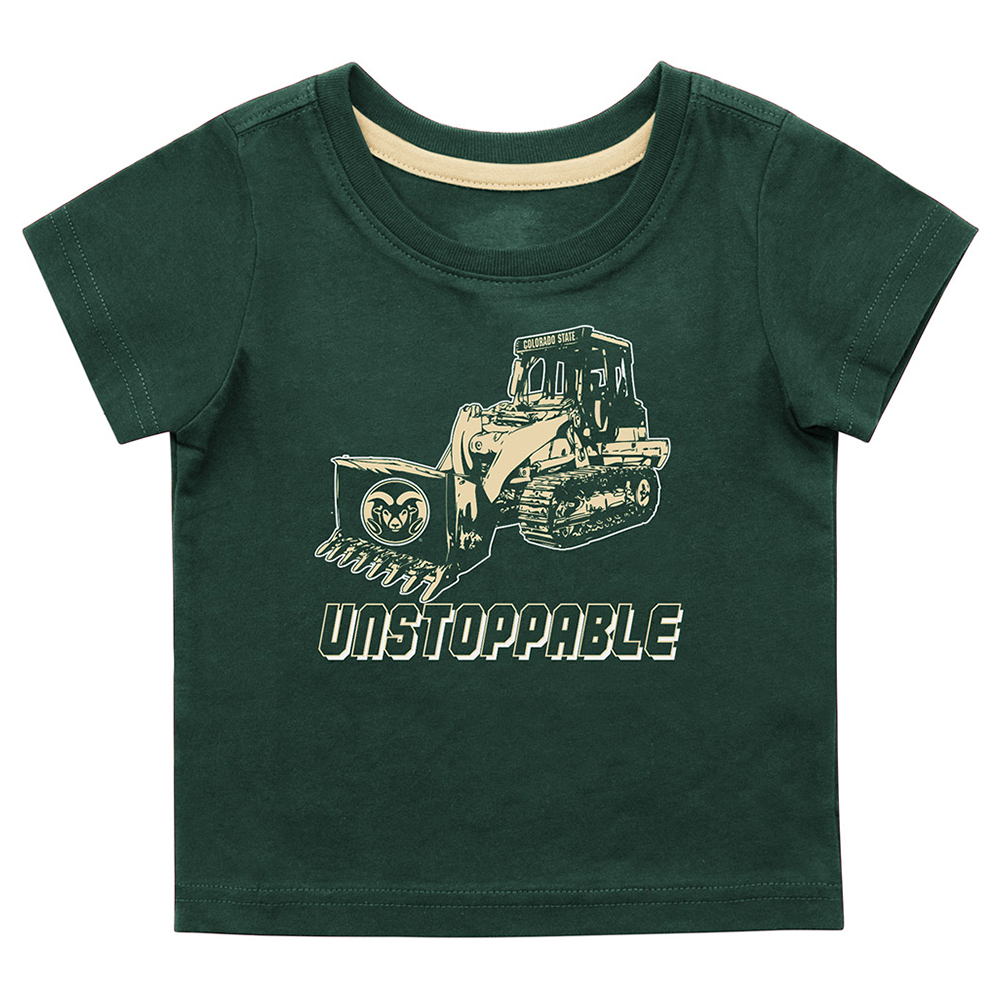 Image For Green Infant CSU Bulldozer T-Shirt by Colosseum