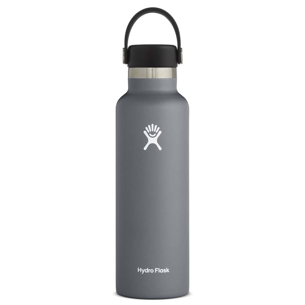 Image For Grey 21oz Standard Mouth Hydro Flask Water Bottle