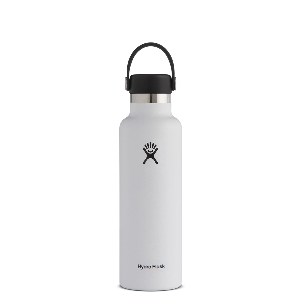 Cover Image For White 21oz Standard Mouth Hydro Flask Water Bottle