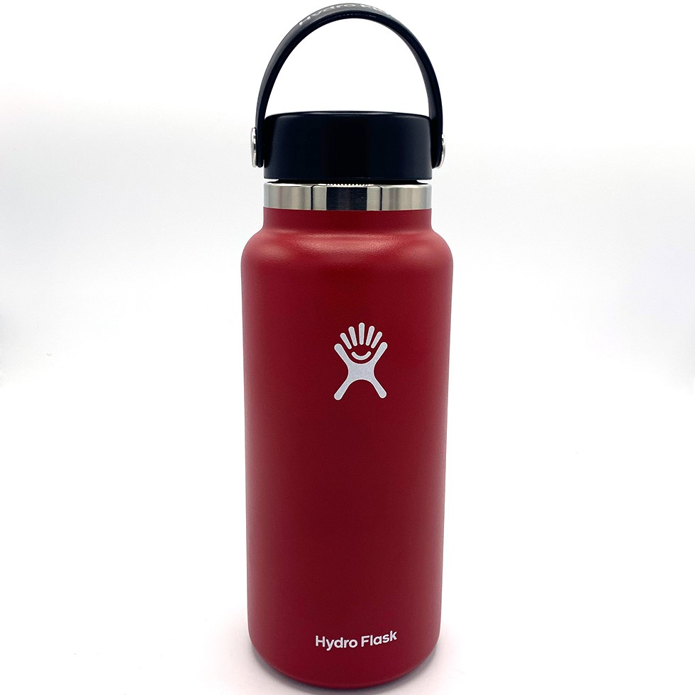 Image For Red 32oz Wide Mouth Hydro Flask Water Bottle