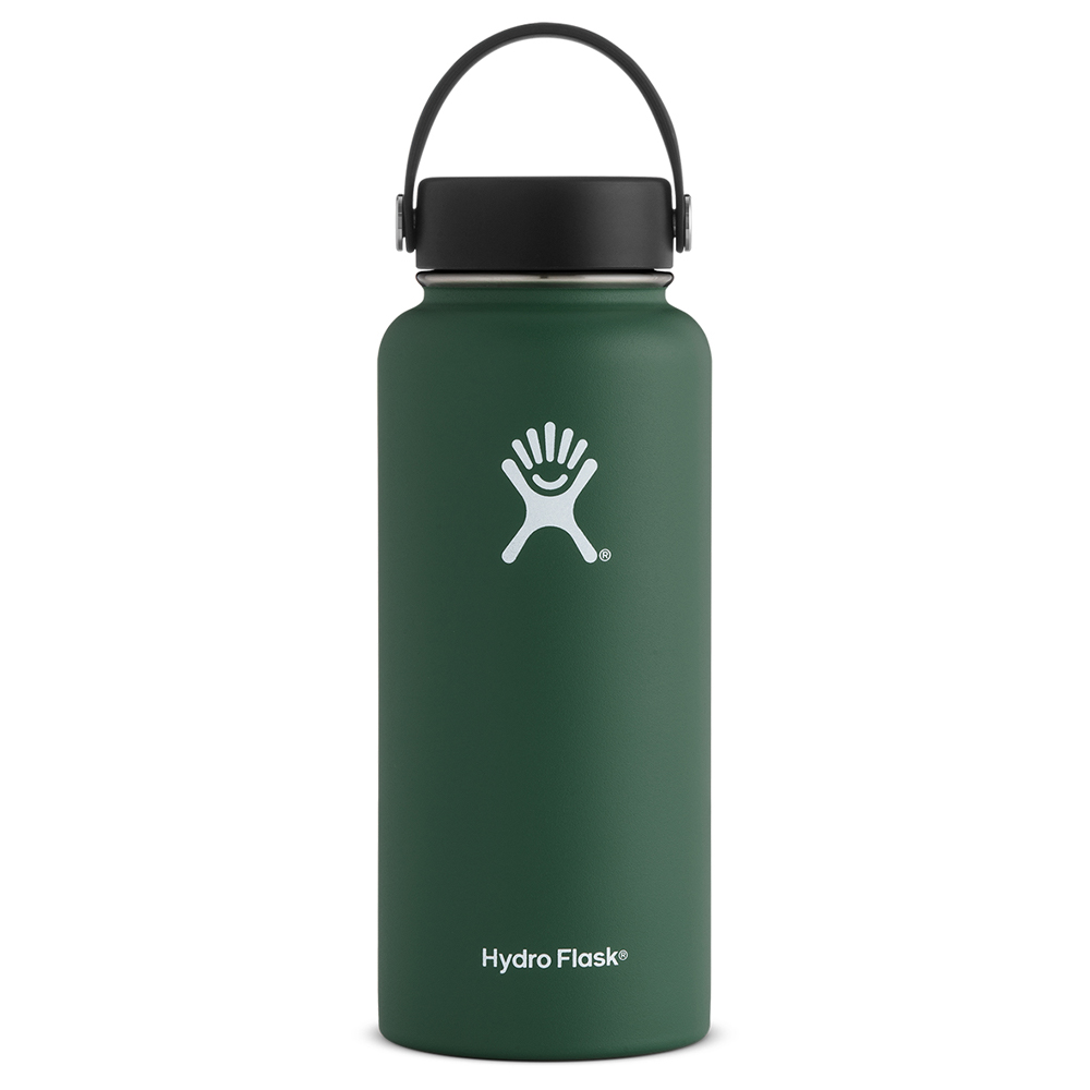 Image For Green 32oz Wide Mouth Hydro Flask Water Bottle