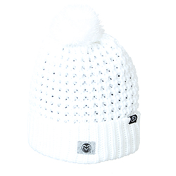Image For CSU White Cozy Knit Hat by Zephyr