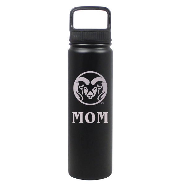Image For Black CSU Rams 24 ounce Stainless Steel Mom Water Bottle