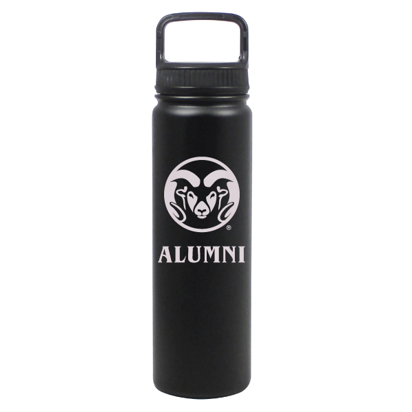 Cover Image For Black CSU Rams 24 ounce Stainless Steel Alumni Water Bottle