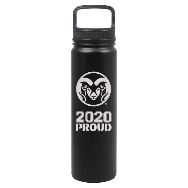 Image For Black CSU Rams 24 oz Stainless Steel 2020 Proud Water Bottle