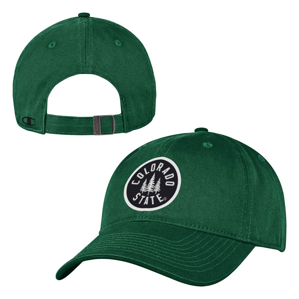 Image For Green Colorado State Trees Structured Twill Hat by Champion