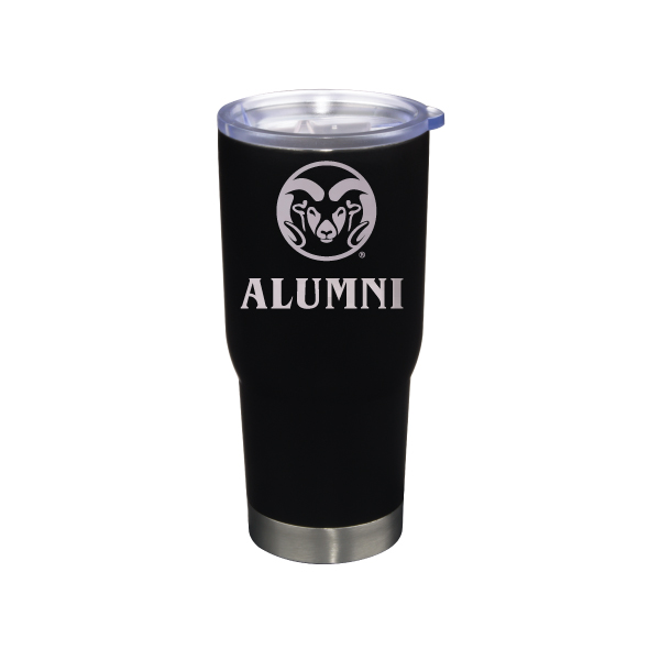 Image For Black CSU Rams 22 ounce Stainless Steel Alumni Tumbler