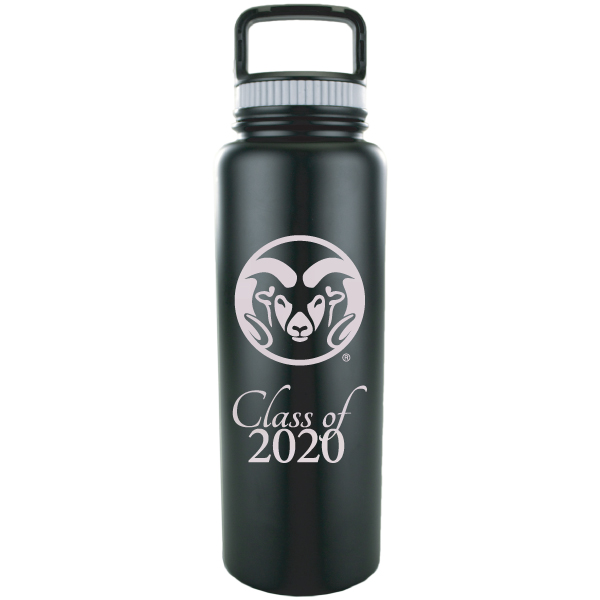 Image For Black CSU 32oz Stainless Steel Class of 2020 Growler