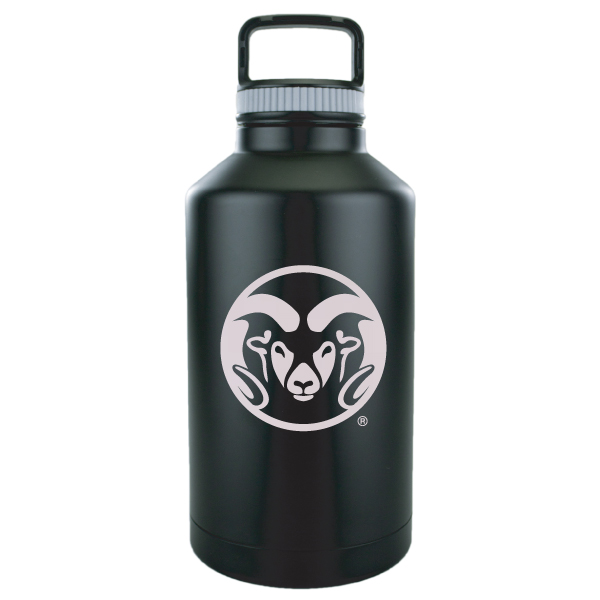 Image For Black CSU 64oz Stainless Steel Ram Head Growler