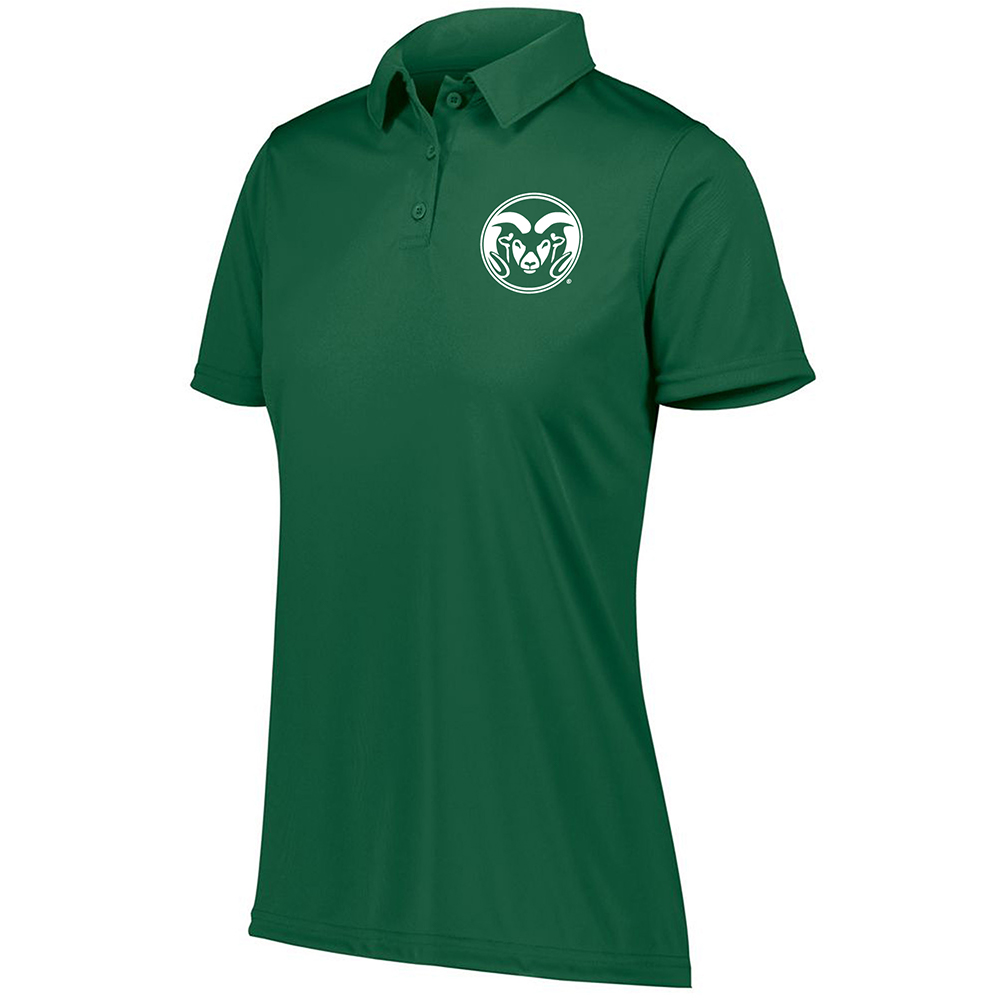 Image For Green Ram Head CSU Polo by Holloway