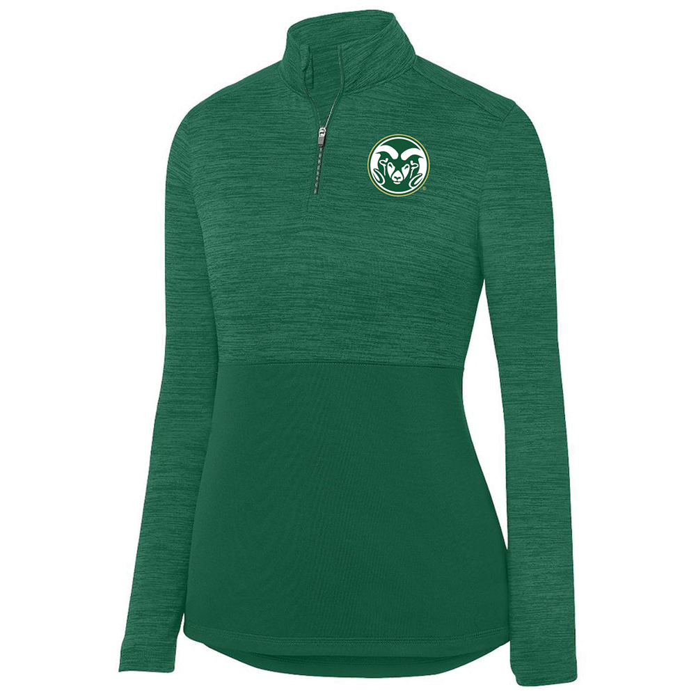 Image For Green Ram Head CSU 1/4 Zip Jacket by Holloway