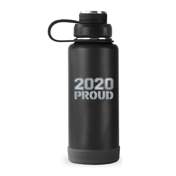 Image For Black CSU Rams 34 oz Stainless Steel 2020 Proud Water Bottle