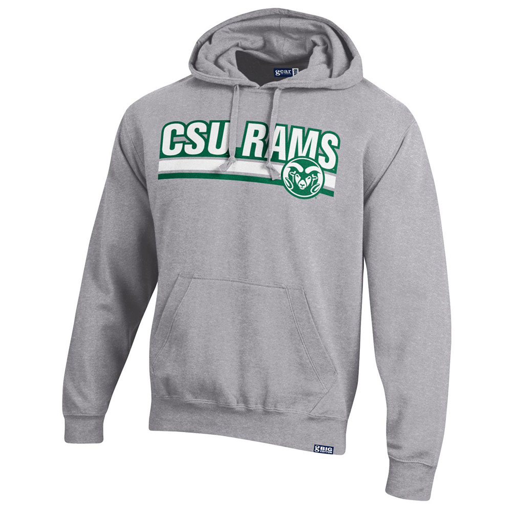Image For Oxford Heather CSU Rams w/ Ram Head Hoodie by Gear