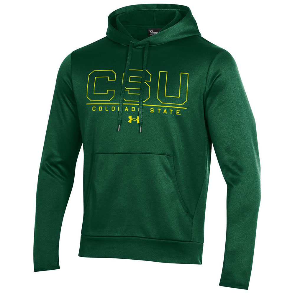 Image For Green Pullover CSU Outline Hoodie by Under Armour