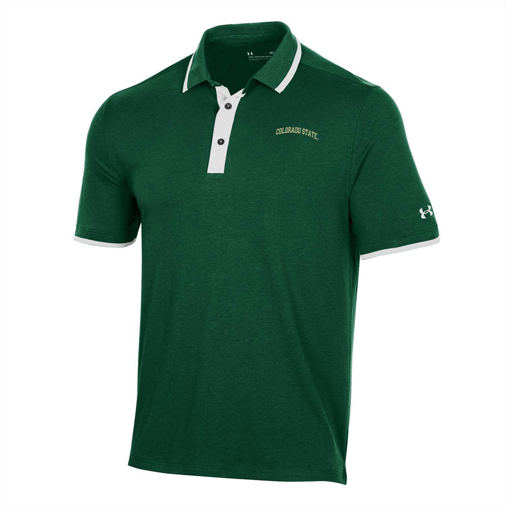 Cover Image For Green Colorado State Gameday Polo Shirt by Under Armour