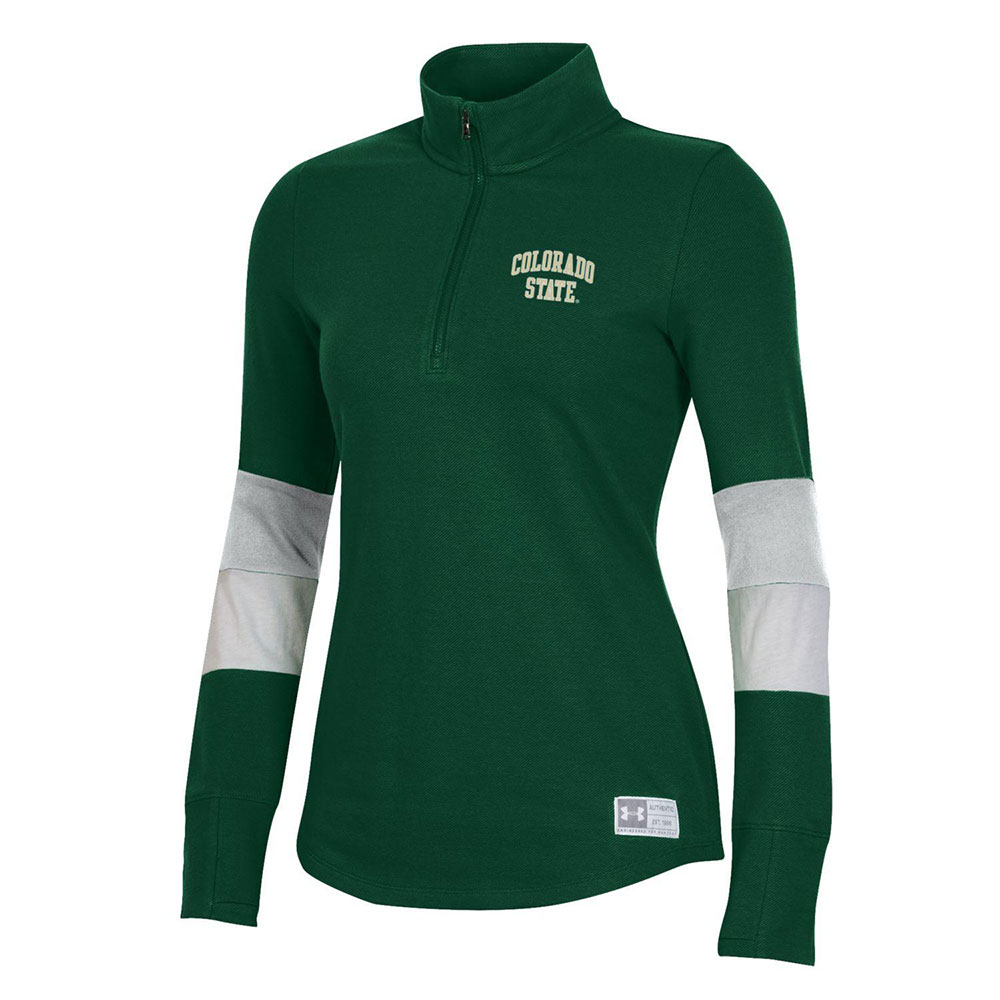 Image For Green Ladies Colo St Gameday ¼ Zip Jacket by Under Armour