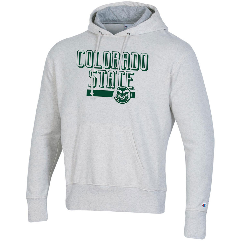 Image For Oatmeal Colorado State w/ Ram Head Hoodie by Champion