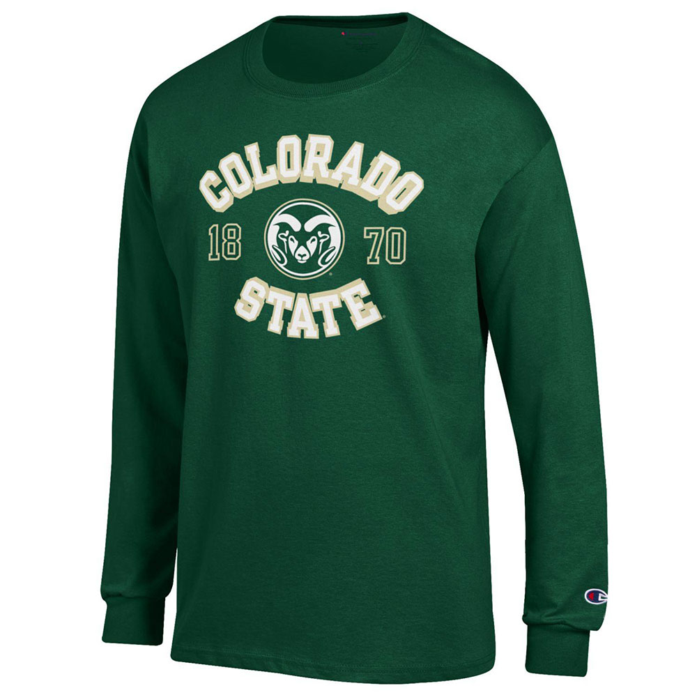 Image For Green Colo St Ram's Head Long Sleeve Jersey Tee by Champion
